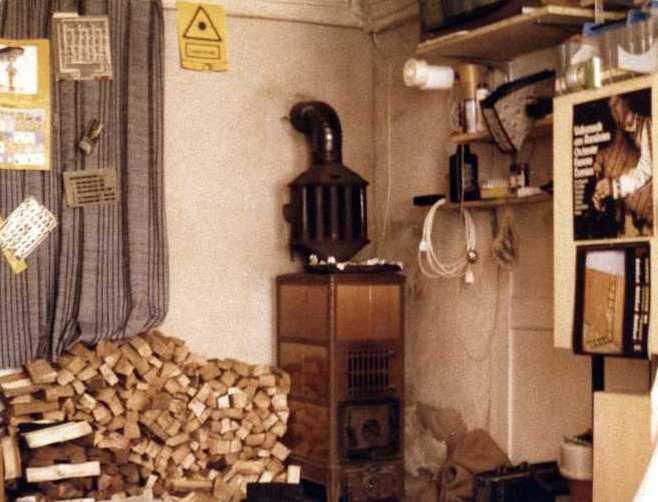 Zimmer mit Ofen